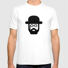 toulouse White Mens Fitted Tee SMALL