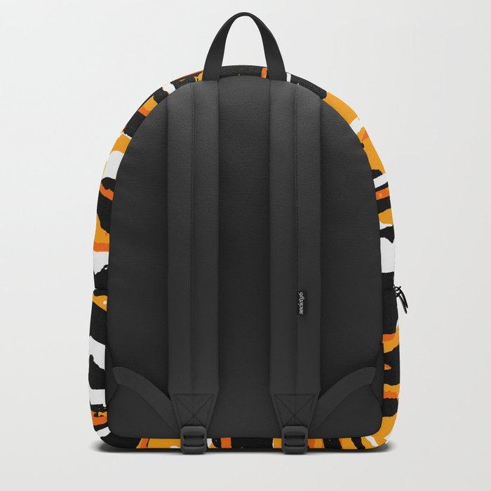 black and orange 02 Backpack
