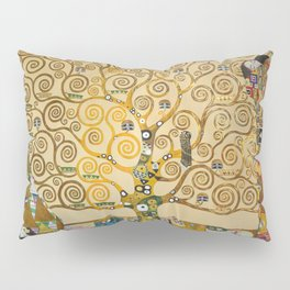The Tree of Life with gold stripe by Gustav Klimt Pillow Sham