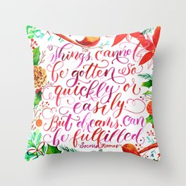 Christmas Birds Throw Pillow