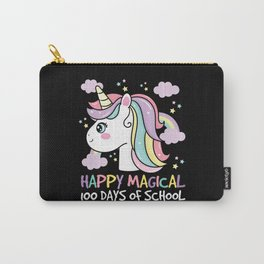 Happy Magical 100 Days Of School Unicorn Carry-All Pouch