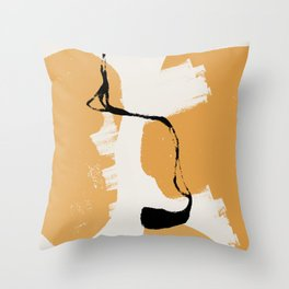 A touch of black #shapeart #digitalart Throw Pillow