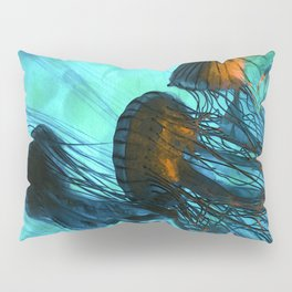 Jellyfish of the Under Sea Volcano Pillow Sham