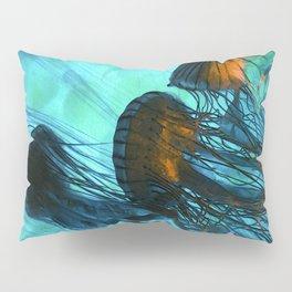 Jellyfish of the Under Sea Volcano Pillow Sham