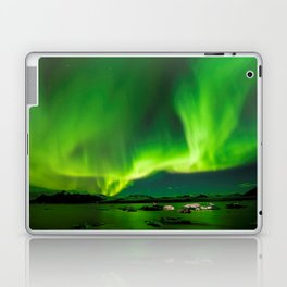 Northern Lights In Iceland Laptop & iPad Skin