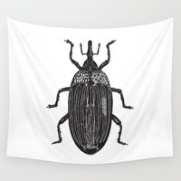 beetle Wall Tapestries featuring Beetle by Najla