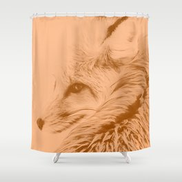 red fox digital acryl painting acrcb Shower Curtain