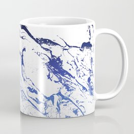 Modern white marble blue ombre navy blue watercolor gradient fade Coffee Mug