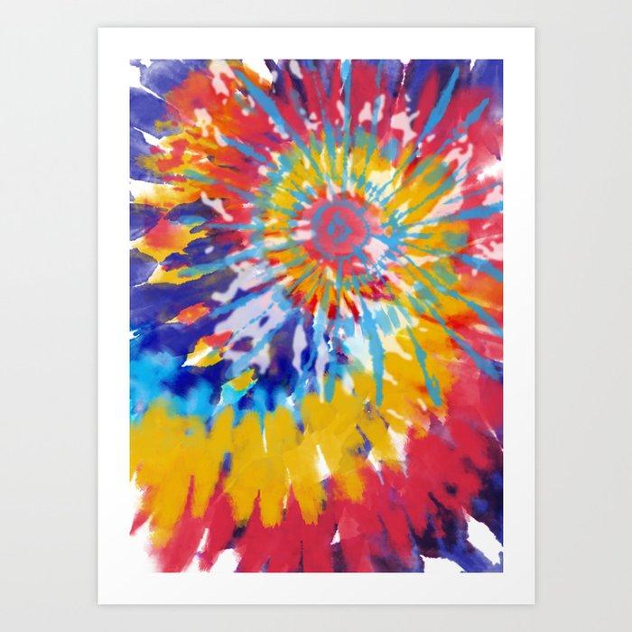 Summer Spiral Art Print