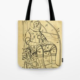 Mobile Space Suit Support Patent Drawing From 1956 Tote Bag
