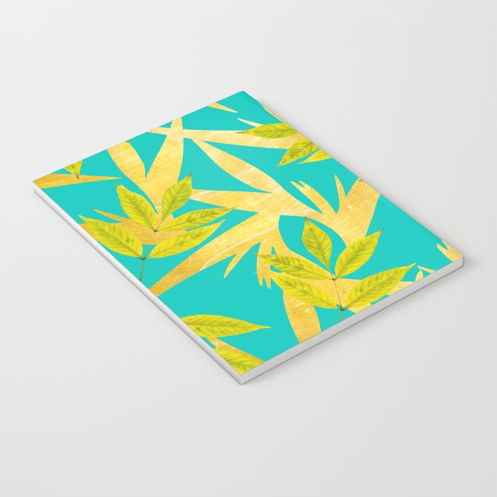 Gold & Teal Florals #society6 #decor #buyart Notebook