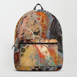 Zebra the Chicken Mixed Media Painting Backpack