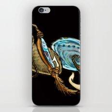 Abalone with Historic Maori Fishing Hooks iPhone & iPod Skin