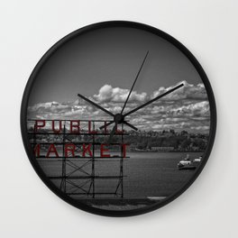 Seattle Pop of Colour Wall Clock