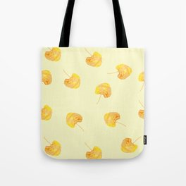 Yellow Leaves flying in the sky Tote Bag