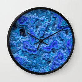 Water blue marble relief  Wall Clock