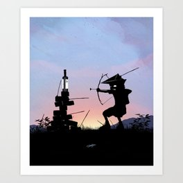 Green Arrow Kid Art Print