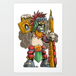 Pencil Warrior Art Print