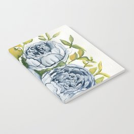 Blue Flowers Watercolor Notebook