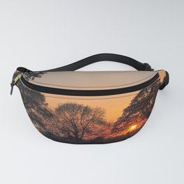 Winter Sunset Through Trees Fanny Pack
