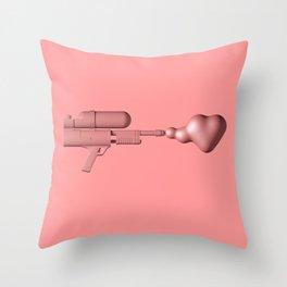 Bubble Gum Gun - Make Love Not War Throw Pillow