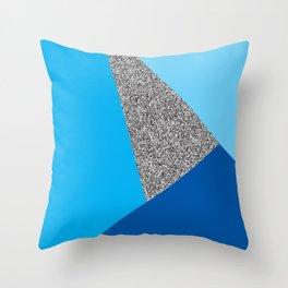 Cool Glitter Sectors Throw Pillow
