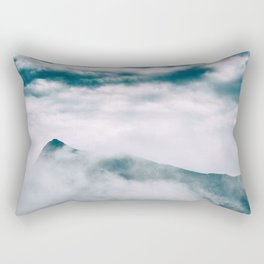 Misty mountain in Hong Kong Rectangular Pillow