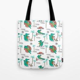 Alligator vacation tropical gator life palm beach socal florida gators Tote Bag