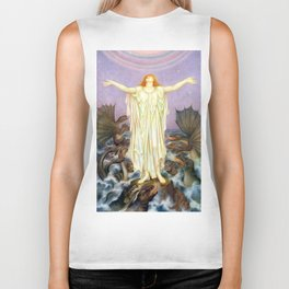"Evelyn De Morgan ""S.O.S."" Biker Tank"
