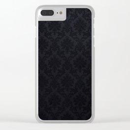 Black damask - Elegant and luxury design Clear iPhone Case