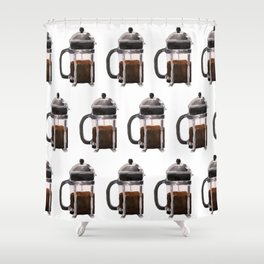 French Press - Brown Shower Curtain