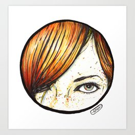 Sucker for a Redhead Art Print