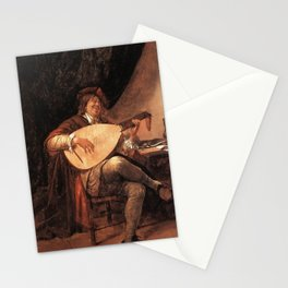 Jan Steen - Self-Portrait playing the Lute Stationery Cards