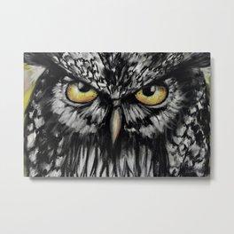 An Owl Eye, Amazing eyes, a bird, original art by Luna Smith Art, LuArt Gallery Metal Print