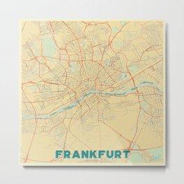 Frankfurt Map Retro Metal Print