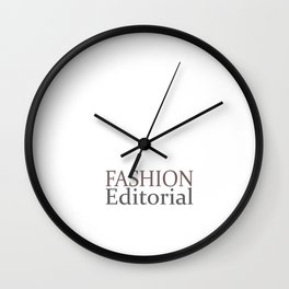 Fashion City: Fashion Editorial Wall Clock