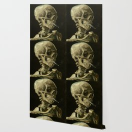 Skull Of A Skeleton With A Burning Cigarette - Vincent Van Gogh Wallpaper