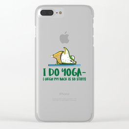 I Do Yoga Clear iPhone Case