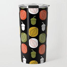 Acorns & Leaves Fall Design Travel Mug