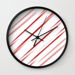 Delusional Red Stripes Wall Clock