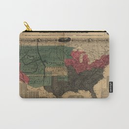 Political Map Of The United States 1856 Carry-All Pouch