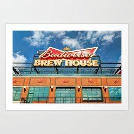 Budweiser Brew House - Saint Louis Cardinals Busch Stadium Art Print