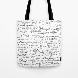 Math Equations Tote Bag