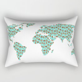 World Map Chocolate Planet Rectangular Pillow