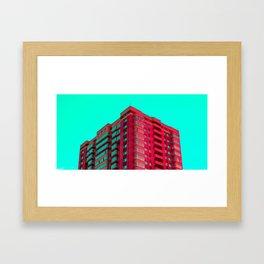 The Red Building Framed Art Print