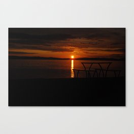 Sun set form Millport Canvas Print