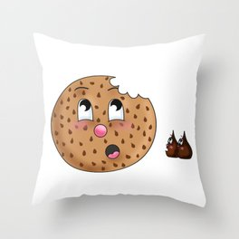 Crumble, Chip and Chunk Throw Pillow