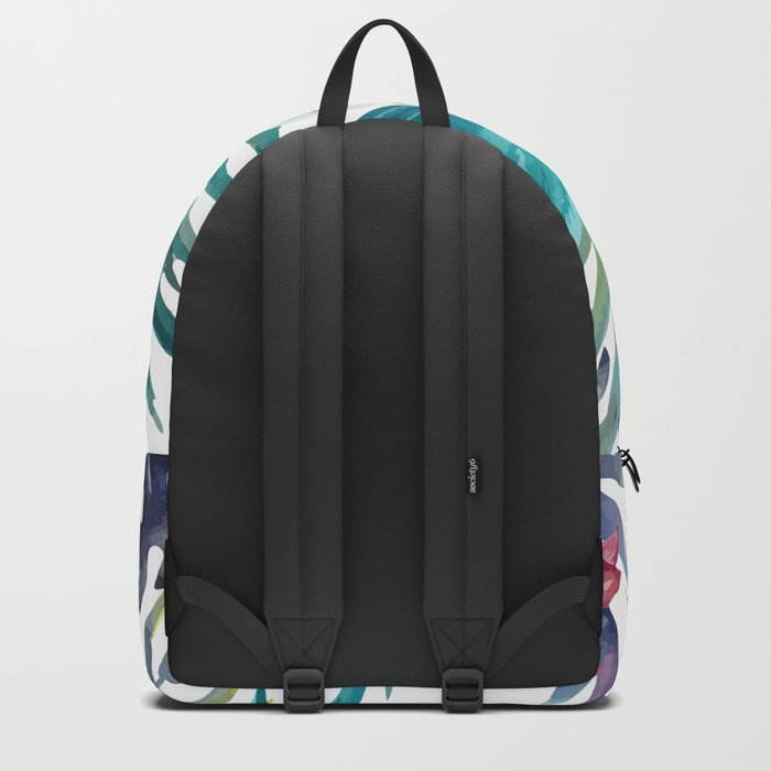 Tropical Floral Pattern 04 Backpack