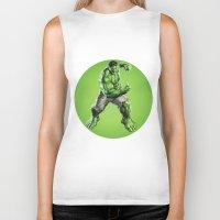 hulk Biker Tanks featuring HULK by Hands in the Sky