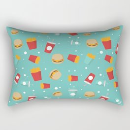 Burgers pattern Rectangular Pillow